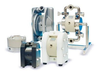 Diaphragm pumps product overview from brochure front page-web